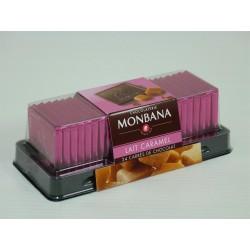 Carrés de Chocolat Lait-Caramel - Réglette de 24 carrés - Monbana