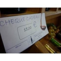 Chèque cadeau 15 €Euros