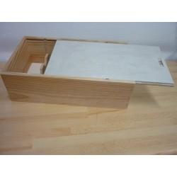 caisse bois pour 2 bouteilles de vin magasin et achat. Black Bedroom Furniture Sets. Home Design Ideas