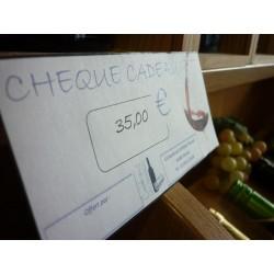 Chèque cadeau 35 €Euros
