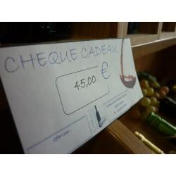 Chèque cadeau 45 €Euros