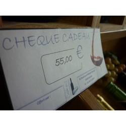Chèque cadeau 55 €Euros