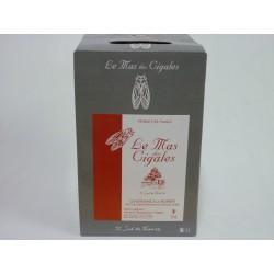 Le Mas des cigales rouge Château de Saint Preignan BIB 5L