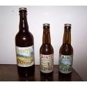 """SAINTE COLOMBE Bière brune 33 cl au Seigle et Malt fumé """"Pie Noire"""""""