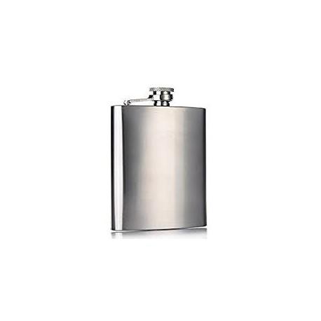 Coffret flasque à whisky en inox avec entonnoir 250 ml