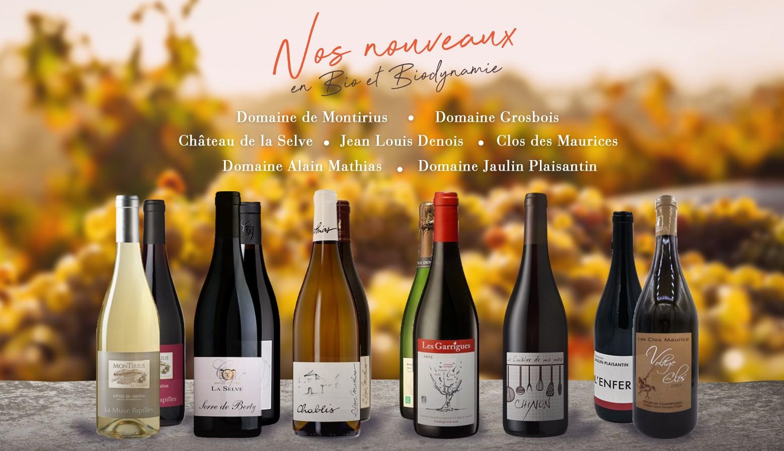 Nouvelles références en vin Bio et Biodynamie