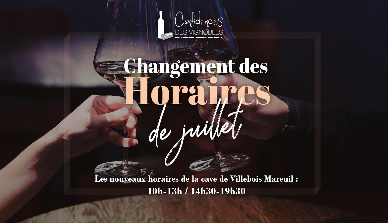 [NOUVEAUX HORAIRES] Votre boutique du Boulevard Villebois Mareuil change ses horaires à partir de juillet