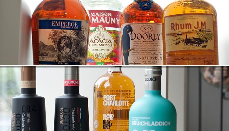 Dégustations de Rhums et de Whiskys